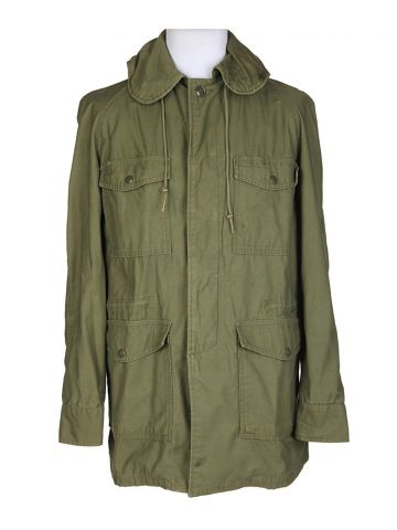60s Rare & Collectable Green Military Field Jacket - S