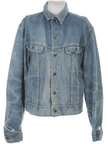 Lee Riders Pale Blue Denim Jacket - L