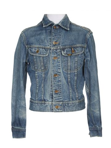 70s Lee Blue Light Wash Denim Jacket - S