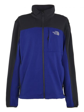 North Face Blue & Grey Fleece Lined Zip Up Jacket - M