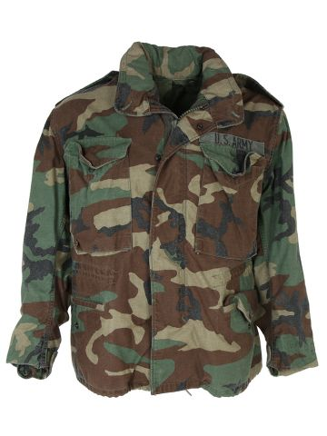 Woodland Camo US Army M-65 Field Jacket - S