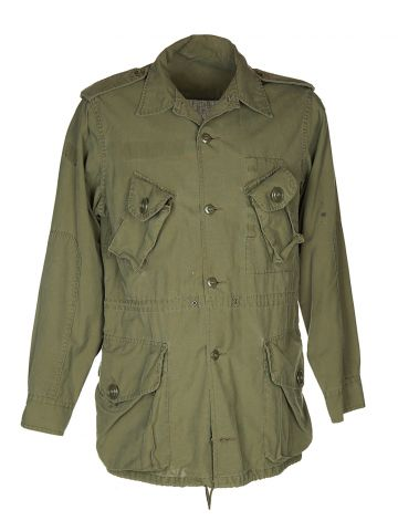 90s Canadian Forces Khaki Green Military Shirt - M