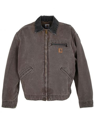 Carhartt Grey Canvas Duck Blanket Lined Chore Jacket - XL
