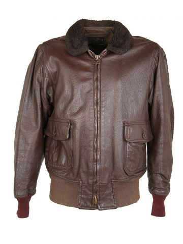 Vintage 70s Goatskin Leather G-1 Flight Jacket - L