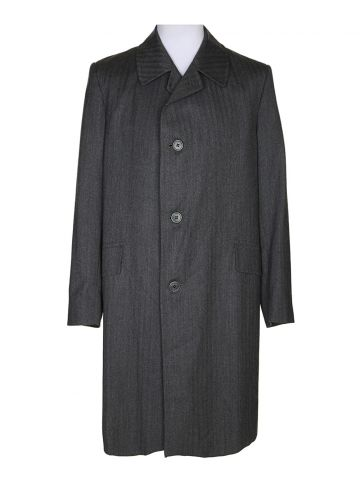 80s Aquascutum Grey Overcoat – XL