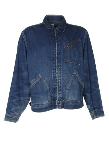 Vintage 60s Lee Jelt Sanforized 91-B Denim Jacket - XL