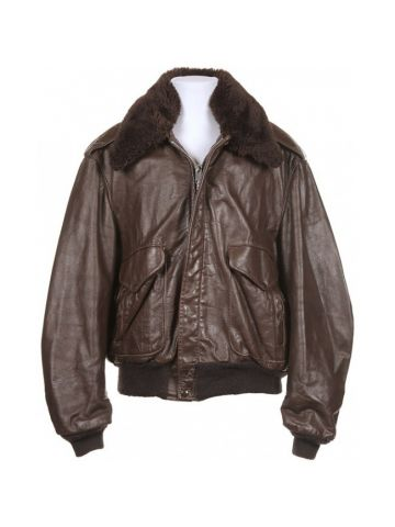 70s Brown Leather A2 Flying Jacket - XL