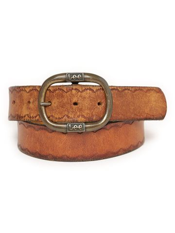 70s Lee Tan Leather Western Belt