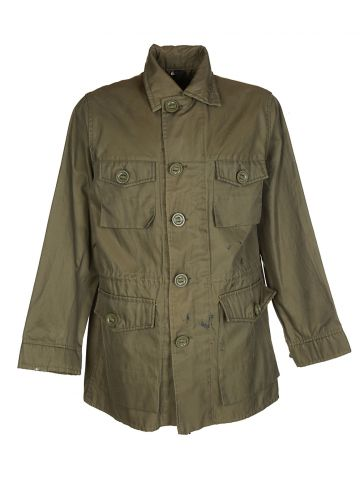 80s Canadian Army Khaki Green Military Field Jacket - M