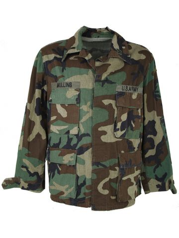 US Army Woodland Camo Shirt - L