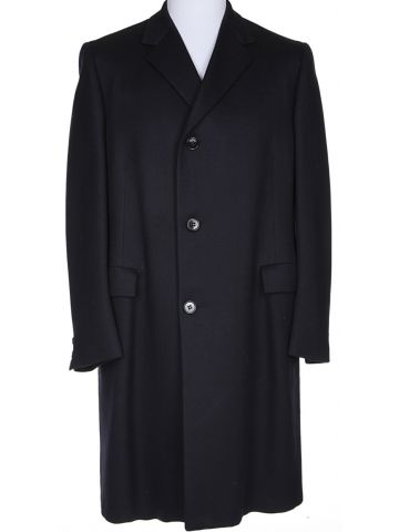 Navy Wool Coat - XL