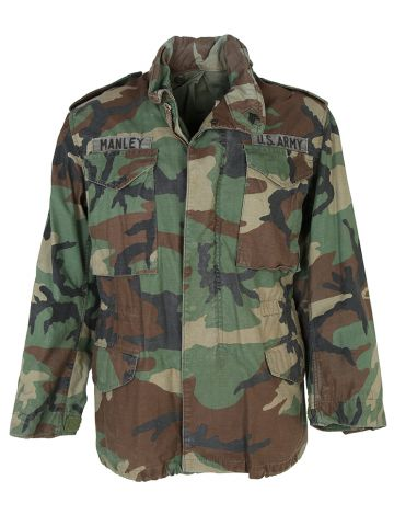 1980s US Army Camouflaged M-65 Jacket - S