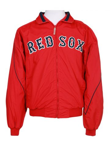 Red Sox Fleece Lined Padded Track Jacket - M