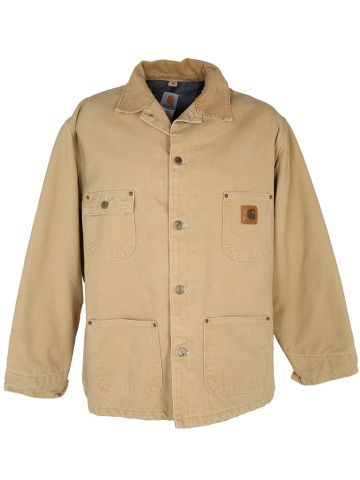 Tan Canvas Blanket Lined Carhartt Chore Jacket - XL