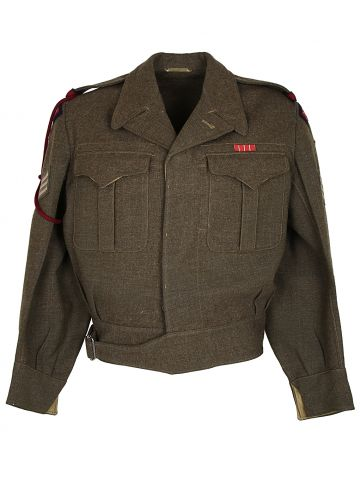 50s Green Canadian Army Battle Dress Jacket - L