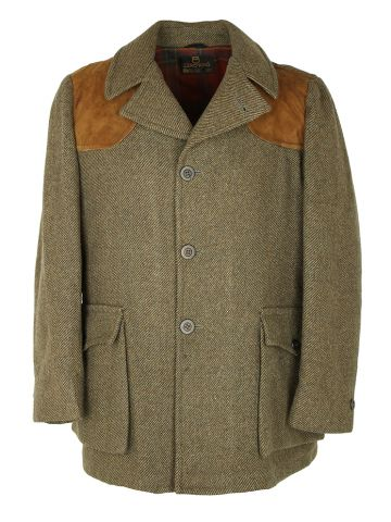 Traditional 70s Country Tweed Zero King Coat - L