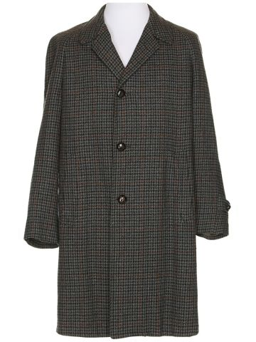 60s Grey Wool Coat - XL