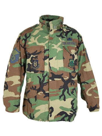 US Air Force Green Camouflage Field Jacket - L