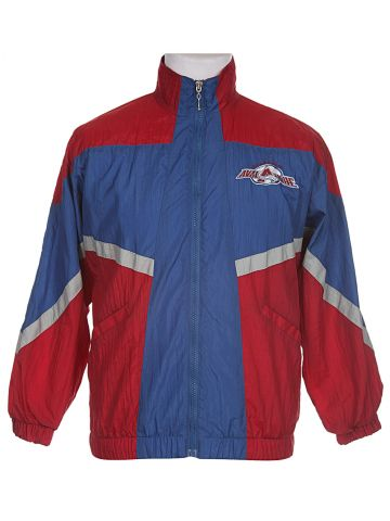 NHL Colorado Avalanche Red, Blue & Grey Sports Jacket