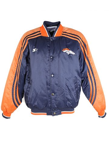 NFL Broncos Navy Blue & Orange Jacket - L