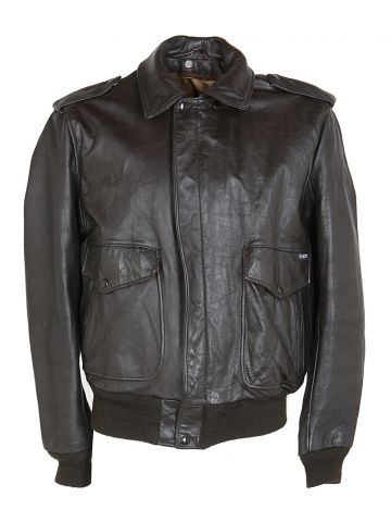 Schott Brown Leather Jacket - L