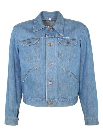 1970s Blue Denim Wrangler Jacket - M