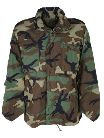 1987 Woodland Camo Cold Weather Field Jacket - S