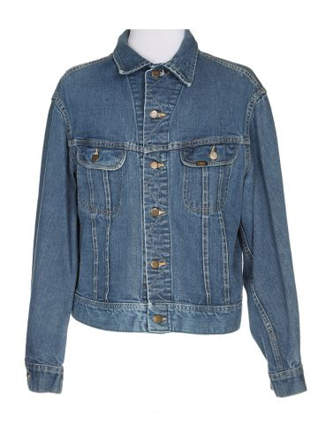 1970s Two Pocket Lee Denim Jacket - XL