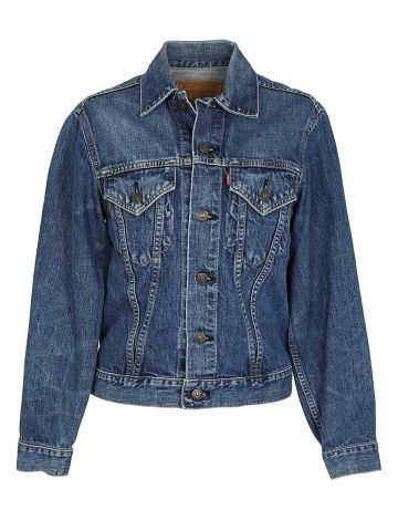 Vintage 60s Levi's Big E 71557 Denim Trucker Jacket - XXS